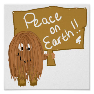 brown peace on earth poster