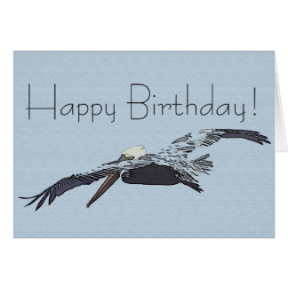 Brown Pelican Birds Wildlife Animal Happy Birthday Card