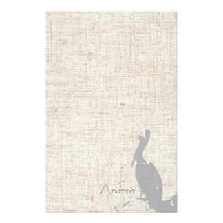 Brown Pelican Birds Wildlife Animals Stationery Paper