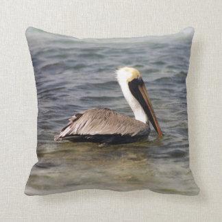 Brown Pelican Cushion