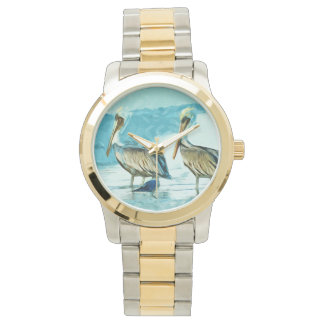 Brown Pelican in Winter Colors Abstract Watch