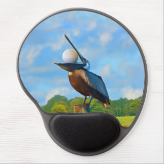 Brown Pelican with Golf Ball Customizable Gel Mouse Pad