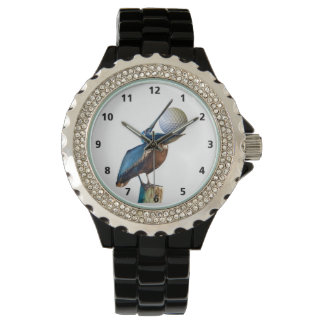 Brown Pelican with Golf Ball Customizable Watch