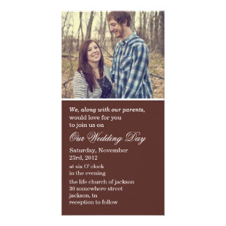 Brown Photo Cards Wedding Invites