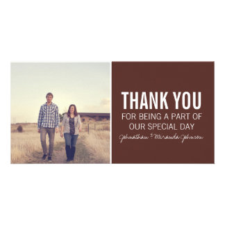 Brown Photo Thank You Cards Customised Photo Card