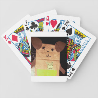 Brown piggy face bicycle playing cards