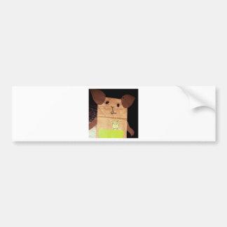 Brown piggy face bumper sticker