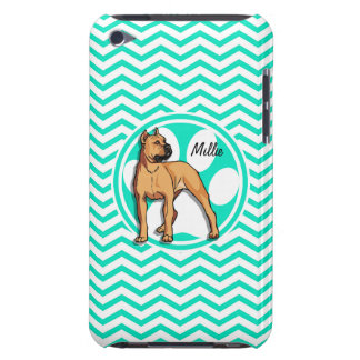Brown Pitbull Aqua Green Chevron iPod Touch Cases