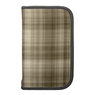 Brown Plaid Planner with smartphone pocket