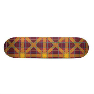 Brown Plaid Skateboard Decks