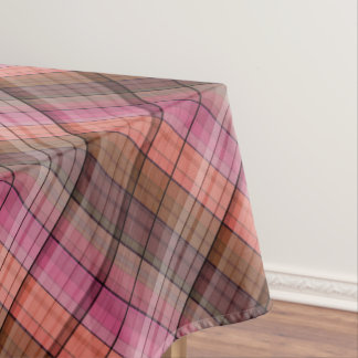 Brown plaid . tablecloth