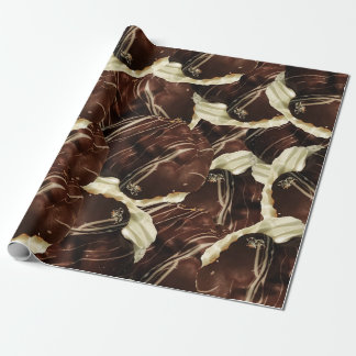 Brown Pod Puffs Wrapping Paper