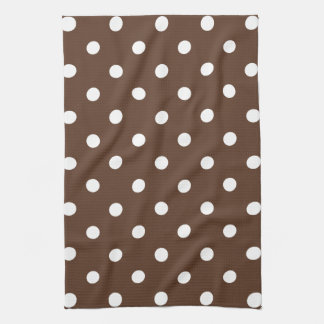 Brown Polka Dot Tea Towel