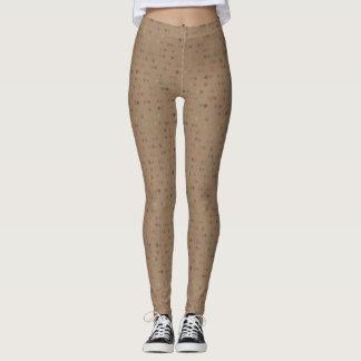 Brown Polka Dots Leggings