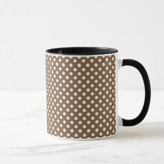 Brown polka dots mug