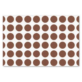 Brown Polka Dots Tissue Paper