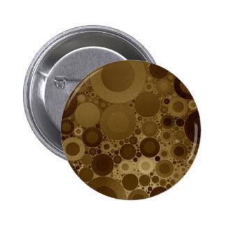 Brown Polkadot Pinback Button