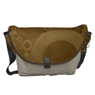 Brown Polkadot Messenger Bags