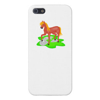 Brown Pony Cover For iPhone 5