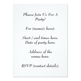 Brown Printed Pattern and Custom Letter. 17 Cm X 22 Cm Invitation Card