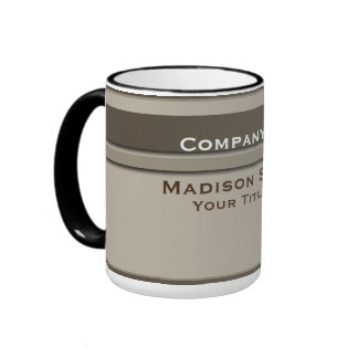 Brown Professional Modern Plain Simple Mugs