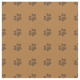 Brown Puppy Paws-Fabric Fabric