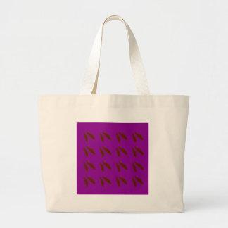 Brown purple beans. Design beans. Large Tote Bag