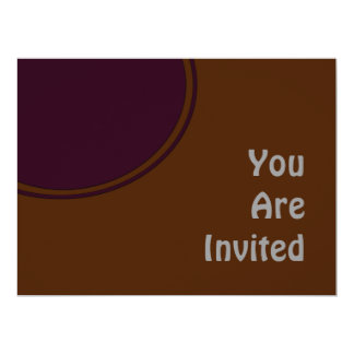 Brown Purple Modern Party Invite