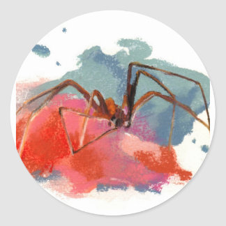 Brown Recluse Spider Round Sticker