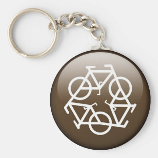 Brown recycle keychain by Petr Kratochvil