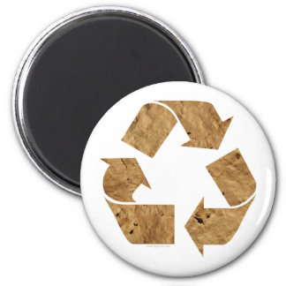 Brown Recycle Sign Fridge Magnets