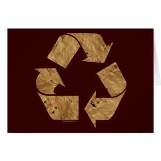 Brown Recycle Sign Greeting Card