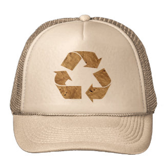 Brown Recycle Sign Mesh Hats