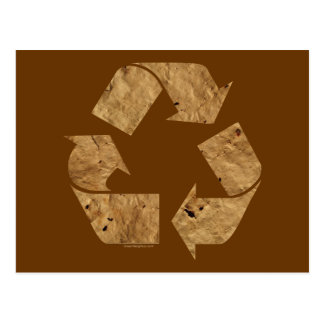 Brown Recycle Sign Postcard