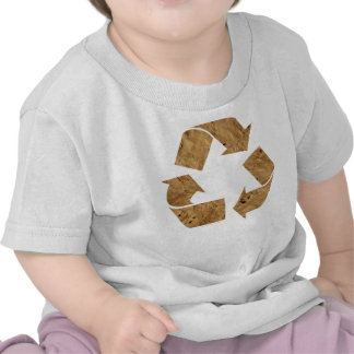 Brown Recycle Sign T Shirts