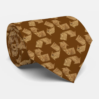 Brown Recycle Sign Tie