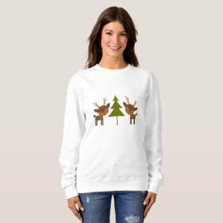 Brown Reindeer Christmas Sweater