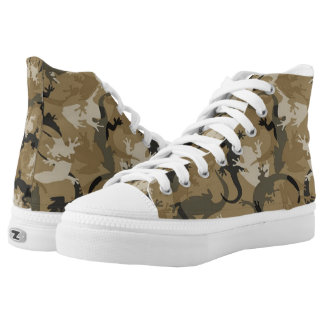 Brown Reptile Camouflage Shoes