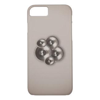 Brown retro music speakers iPhone 7 case