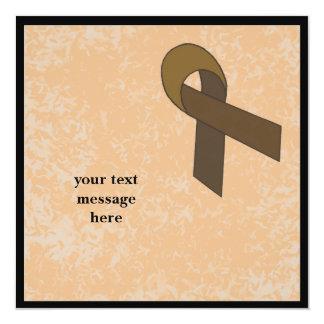brown ribbon event 13 cm x 13 cm square invitation card