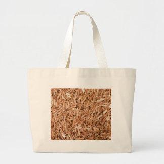 Brown rice grain texture tote bag