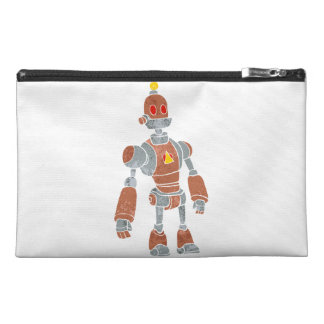 brown robot with lamp head travel accessory bags
