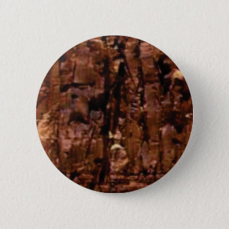 brown rock crumble 6 cm round badge