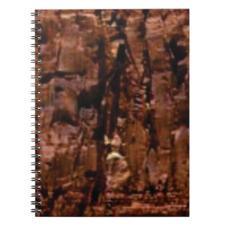 brown rock crumble spiral notebook