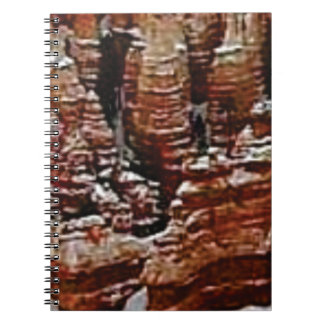 brown rock erosion towers notebook