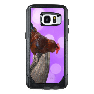 Brown Rooster Nosy Parker, OtterBox Samsung Galaxy S7 Edge Case