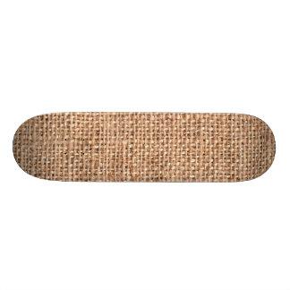 Brown Rustic Burlap Texture Custom Skate Board