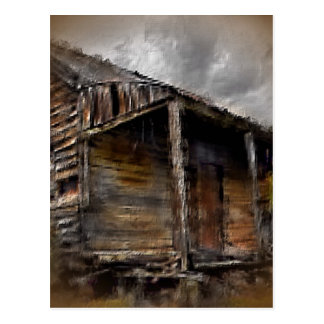 Brown Rustic Cabin Postcard