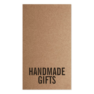 Brown Rustic kraft paper diy handmade cardboard Pack Of Standard Business Cards