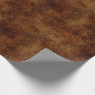 Brown Rustic Texture Wrapping Paper